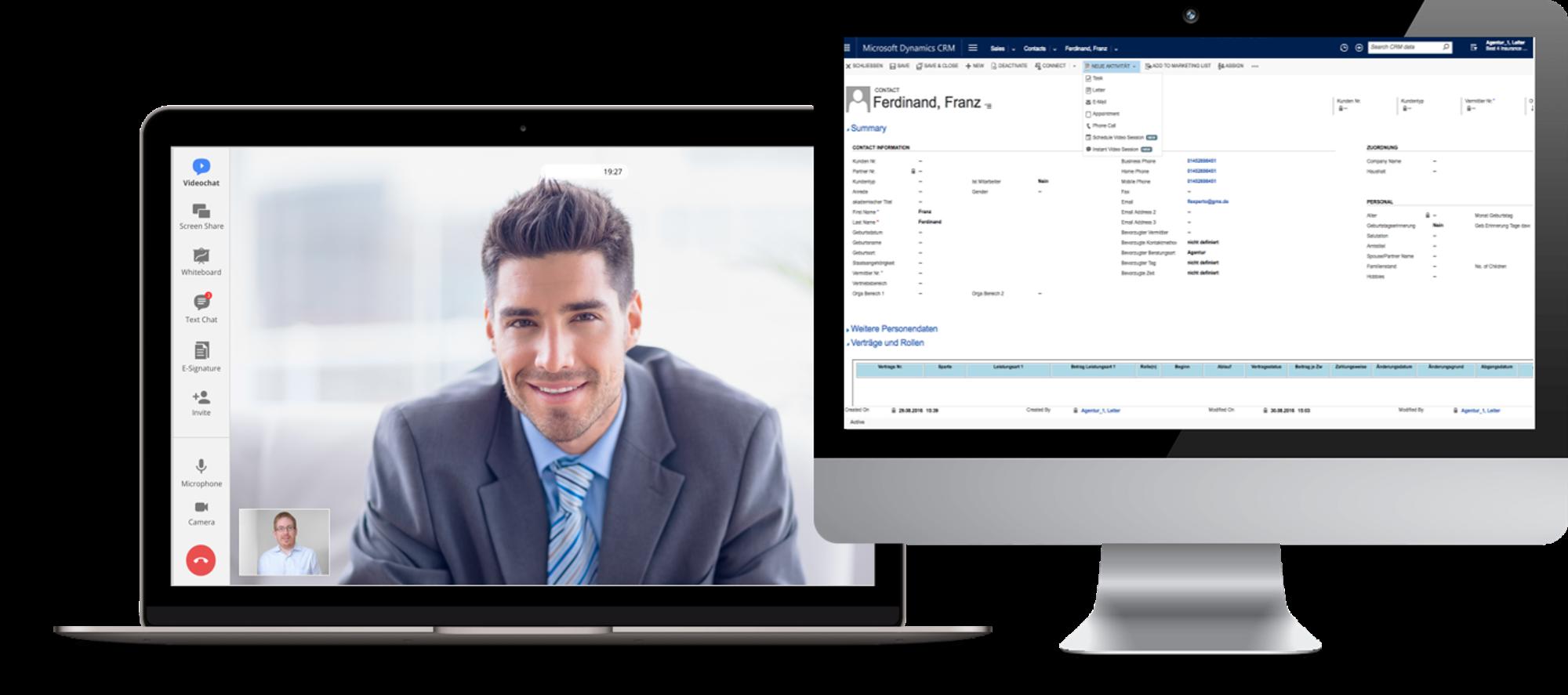 Videoberatung mit CRM Integration